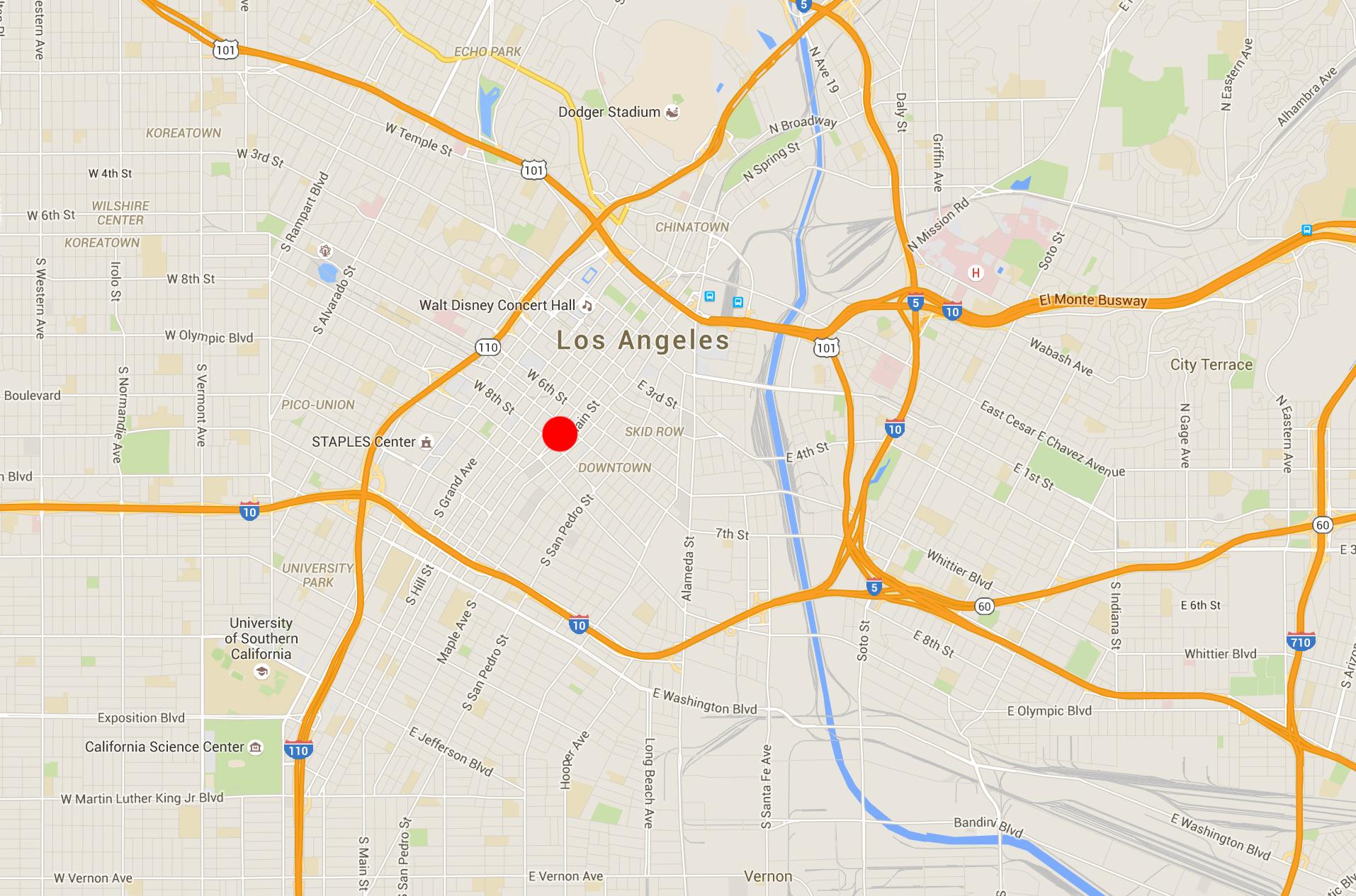 Map LA