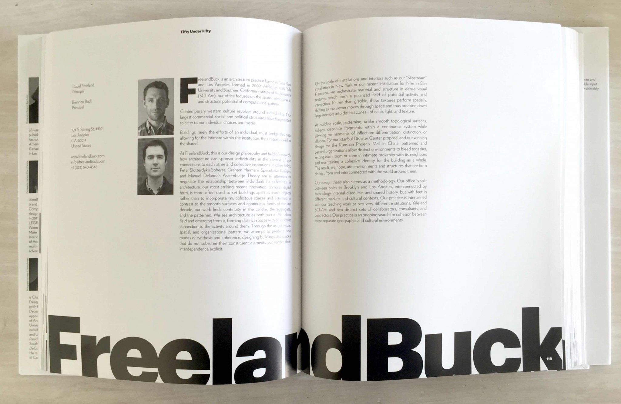 FreelandBuck_Fifty Under Fifty: Innovators of the 21st Century